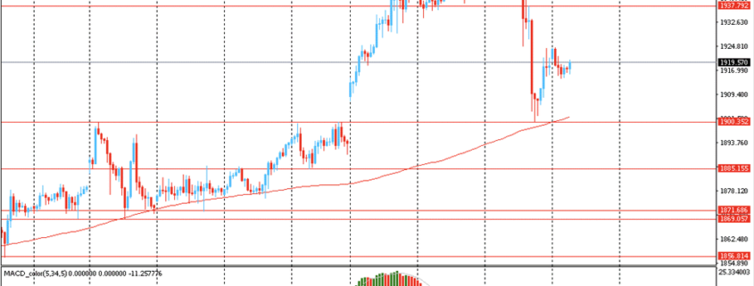 Gold test support for MA 200 H1